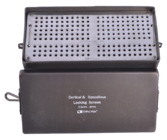 Aluminium Anodized Screw Box with S.S. Tray For Locking Cortical & Cancellous 3.5+4 mm